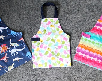 Water resistant 'Sailing' Children's Self Sufficiency Apron, encouraging independence, pre-school & craft apron fits approx 3-5 year olds