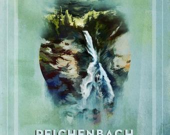 Reichenbach Falls Print