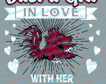 Just a Girl In Love with Her Gamecocks SVG