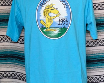 90s Single Stitch Rose Stock Spring 1995 Shirt Best Fruit of the Loom Teal Large 50 50 Cotton Woodstock Polyester