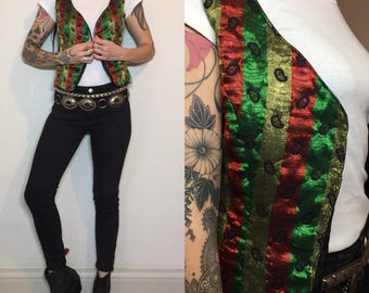 Indian shiny vintage vest