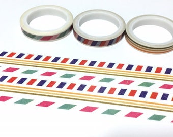 3 rolls airmail border washi tape 5M x 7mm travel diary sticker air mail pattern slim tape classic envelope pattern decor gift wrapping tape