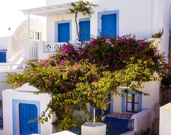 Greece Photography - Fine Art Photography - Santorini Print - Santorini Photography - Wall Art - Blue Home Decor - Greek Houses - 0138