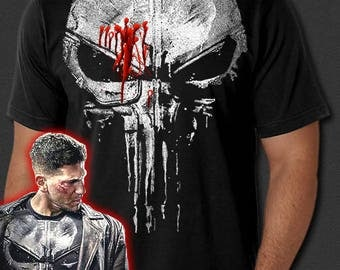 The Punisher New Skull Jon Bernthal Frank Castle Body Armor Painted T-Shirt S-6XL