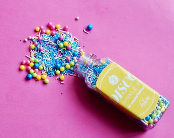 Disco sprinkle mix/ sprinkle mix/ cake decorating/ neons/ pink/ sprinkles/ cupcakes/ baking/ foodie gifts/ for her/ gifts for girls/ glitter