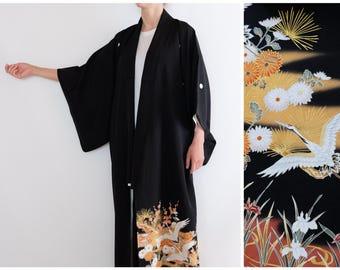 White Crane Japanese Kimono