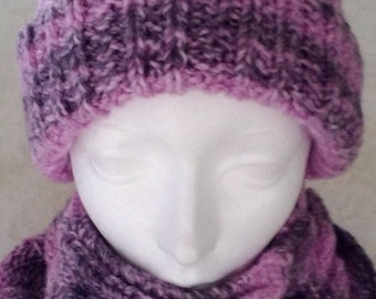 All slouch hat and neck with buttons
