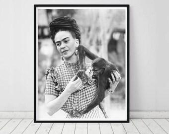 Frida Kahlo Print • Frida Kahlo Poster Scandinavian Print Scandinavian Decor Frida Kahlo Wall Art Frida Art Deco Mexican Decor Mexican Art