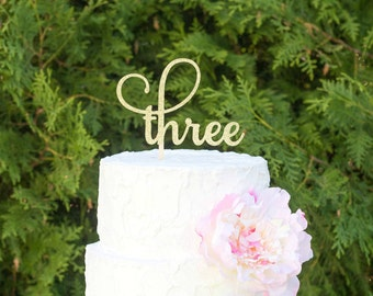 Cake topper - Number three cake topper,third birthday decorations, third birthday cake topper, 3rd birthday party, birthday decorations