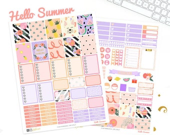 Printable Planner Stickers, For Erin Condren Stickers, weekly kit, Kate Spade inspired, Preppy, Glam, Floral stickers, back to school, fall