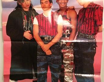 Culture Club Poster Boy George Vintage Band 1984 Scandecor 1980s Pop Rock Trans