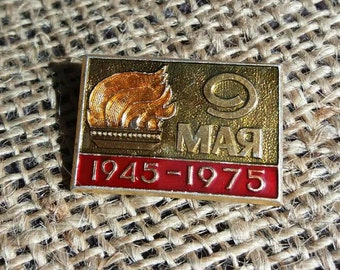 Vintage Soviet 9th May  Victory Day 30 Years of Victory Collectible pin  Soviet badge