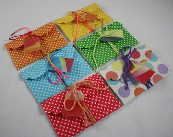 Gift Card Holder Handmade In 6 Colors Birthday Any Occasion Includes Color Changing Tag And Twine Great for Cash Or Small Flat Gifts