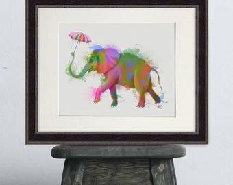 Elephant decor - Elephant Print  - Elephant art Elephant print art Elephant wall print Elephant wall art Elephant theme Elephant art print