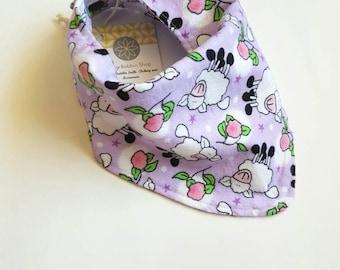 Sheep Bandana Bib, Lilac Baby Bib, Flannel Bib, Bibdana, Baby Girl Bib, Baby Girl Gift, Baby Bib, Gifts for Baby, Baby Shower Gifts, Purple