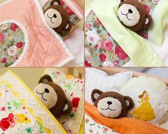 Doll mattress and bedding, design doll bedding, doll blanket, doll pillow, doll quilt, doll mattress, baby doll bedding, doll crib bedding