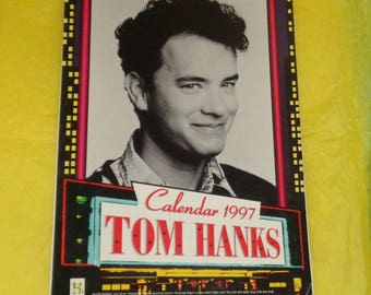 Very Rare Tom Hanks 1997 Oliver Books Calendar Film Memorabilia Full Page Pics Movie Star Vintage Collectable Full Page Photos Forrest Gump