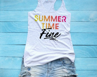 Summer Time Fine Tank Top