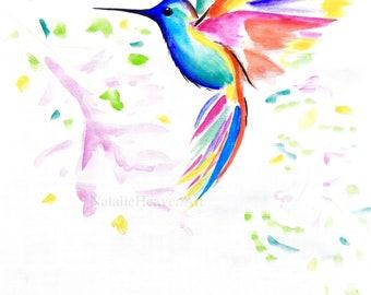 Colourful Animal Prints, Colorful Hummingbird Print, Bird Picture 5x7 Print, 8x10 Print Bird, 11x14 Print, A5 Prints, A4 Prints, A3 Prints