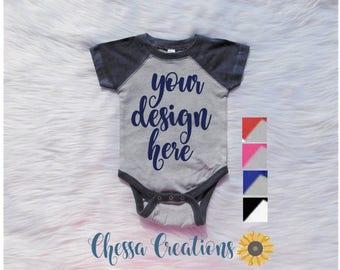 Baby Baseball Shirt Baby Raglan Onesi Raglan Baby Shirt Baseball Onesi Custom Baby Raglan Shirt Baseball Infant Onesi Baby Bodysuit