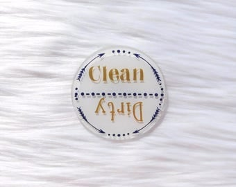 Dishwasher Magnet / Clean Dirty Dishwasher Magnet / Dishwasher Clean or Dirty / Kitchen Decor / Kitchen Accessories / Magnet / Custom Magnet