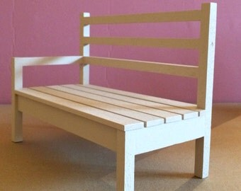 Beautiful daybed bench wood rested for Dolls, Pullip, Blythe, Dal, BJD LittleFee.