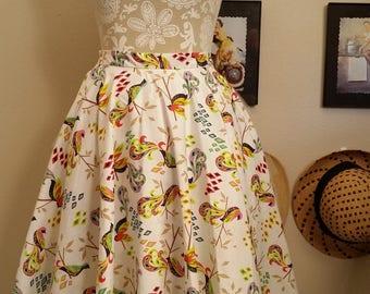 Dragon Birds Circle Skirt