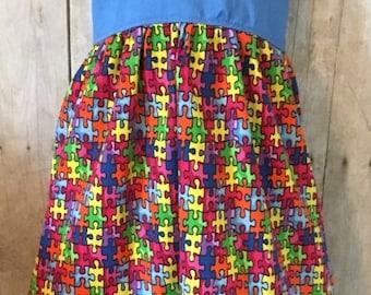 Autism Puzzle Dress   Girls Autism Dress   Autism Awareness   Autism Dress   Puzzle Pieces   Toddler Autism Dress