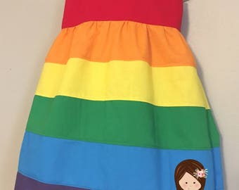 Rainbow Dress | Girls Rainbow Dress | Girls Disney Dress | Rainbow Birthday Party | Rainbow Costume