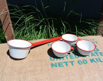 Enamelware Cups and Dipper