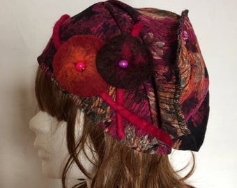 Hat-Hat designer purple-black-purple-orange