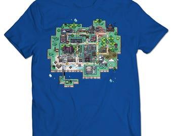 Scott Pilgrim vs. the World: The Game Toronto Map T-shirt