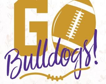 Go Bulldogs! Football .SVG File for Cricut, Silhouette Studio & more!
