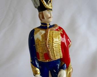 RARE Caltonware 10th Royal Hussars 1831 Military Soldier Figurine