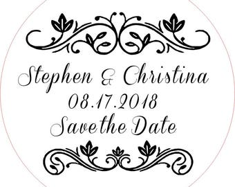 Wedding Stamp, Save the date stamp, Save Date Stamp, Custom Wedding Stamp, Custom Rubber Stamp, Wedding Rubber Stamp, Address Stamp, ( C )