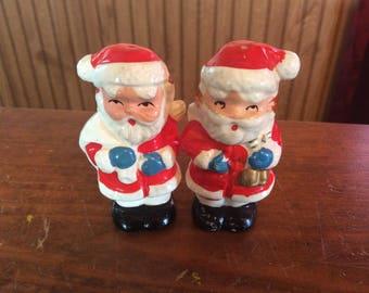 Santa Claus salt pepper shakers set made in Japan  Christmas gift