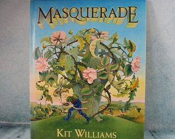 Vintage MASQUERADE HB book Kit Williams Golden Hare treasure hunt