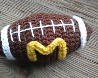 Crocheted Plush Stuffed Baby Newborn Toddler Football Team Any Color Gift Father's day Photo Prop