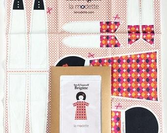 Poupée de chiffon kit couture - Brigitte - cadeau jeu doudou enfant