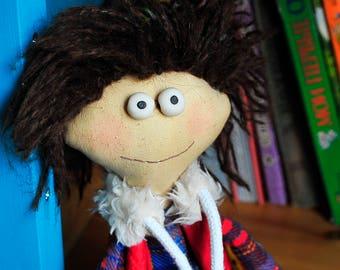Primitive. Folk Art Doll. Child friendly toys. Stuffed toy. Doll.