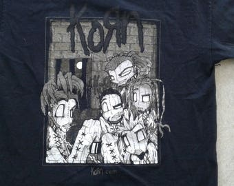 "Vintage KORN ""Sick and Twisted"" Concert tour t-shirt large"
