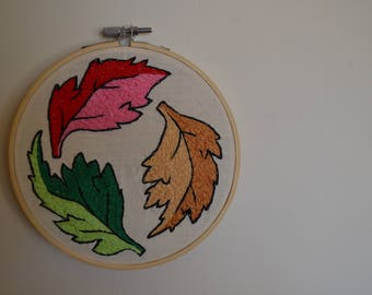 """6"""" Leaf Embroidery"""