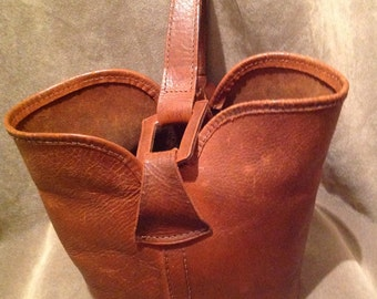 1950s Bucket bag / Purse / Leather bucket Bag