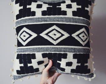 Cushion Cover Peruvian Pillow Cover Wool Cushion Fair Trade Home Decor Ethnic Handwoven Pillow Ethical Handmade Artisan 50x47cm 20x18in