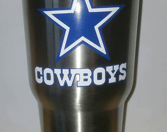 2 color layer Dallas cowboys yeti rtic laptop car decal