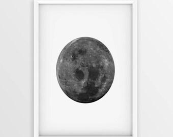 Full Moon Print • Moon Printable • Affiche Scandinave • Moon Printable • La Lune • Moon Art • Moon Print • Moon Wall Art • Moon print •