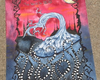 "Apocalypse | Original Watercolor Painting 9""x12"""