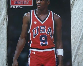 Vintage 1991 MJ - Michael Jordan magazine - Dream Team - 1991 - Vintage Michael Jordan - Michael Jordan gift, MJ, Vintage NBA, Gifts for him