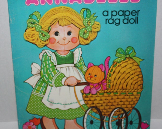 Whitman 1980 Annabelle A paper rag doll Paper Doll Book Unused Uncut Vintage