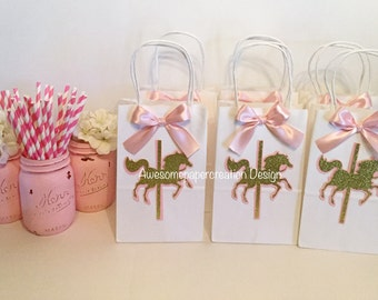 Party Straws Carousel Theme Baby Shower First Birthday